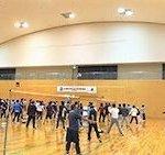 スポーツ交流会ソフトバレー大会の写真です